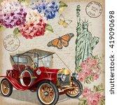 new york vintage poster. | Shutterstock .eps vector #419090698