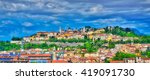 the city of bergamo with high... | Shutterstock . vector #419091730