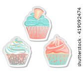 food sticker set. collection of ...   Shutterstock .eps vector #419092474