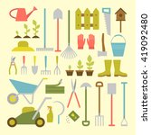 vector big collection of... | Shutterstock .eps vector #419092480