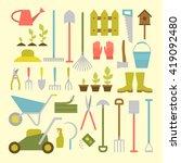 vector big collection of... | Shutterstock .eps vector #419092480