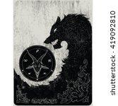 black wolf art | Shutterstock .eps vector #419092810