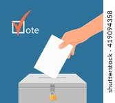 election day concept vector... | Shutterstock .eps vector #419094358