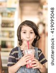 sweet face boy with good mood... | Shutterstock . vector #419095048
