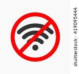 no wifi icon vector... | Shutterstock .eps vector #419095444