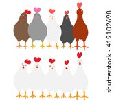 cute roosters set | Shutterstock .eps vector #419102698
