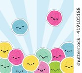 kawaii yarn skein.  | Shutterstock .eps vector #419105188