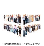 together we stand isolated... | Shutterstock . vector #419121790