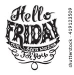 hello friday i have been... | Shutterstock .eps vector #419123509