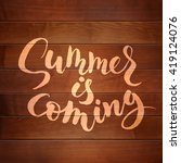 summer is coming lettering on... | Shutterstock .eps vector #419124076