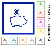 set of color square framed euro ...