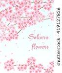 vector background with sakura... | Shutterstock .eps vector #419127826