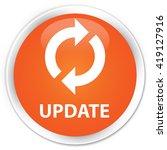 update orange glossy round...   Shutterstock . vector #419127916