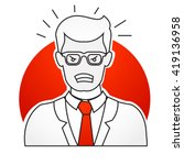 annoyed frustrated businessman ... | Shutterstock .eps vector #419136958