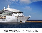bow zone of a luxury cruise... | Shutterstock . vector #419137246