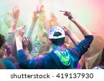 teenagers dancing in a party | Shutterstock . vector #419137930