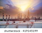 oil and gas industry   refinery ... | Shutterstock . vector #419145199