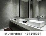 interior of a modern bathroom   Shutterstock . vector #419145394