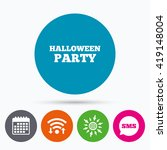 wifi  sms and calendar icons.... | Shutterstock .eps vector #419148004