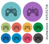 color game controller flat icon ...