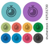 color timer flat icon set on...