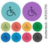 color disability flat icon set...