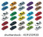 isometric cars sedan set. urban ... | Shutterstock . vector #419153920
