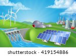 energy or power generation... | Shutterstock .eps vector #419154886