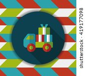 shopping freight transport flat ... | Shutterstock .eps vector #419177098