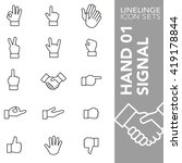 high quality thin line icons of ...