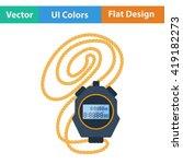 flat design icon of stopwatch...