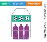 flat design icon of football...