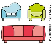 sofas and couches furniture... | Shutterstock .eps vector #419182780