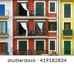 colorful vintage mediterranean... | Shutterstock . vector #419182834