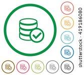 set of database ok color round...