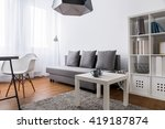 very bright room in a modern... | Shutterstock . vector #419187874