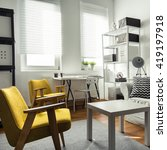 stylish furniture in... | Shutterstock . vector #419197918