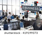 e business commerce connecting... | Shutterstock . vector #419199373