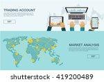 vector illustration. flat... | Shutterstock .eps vector #419200489
