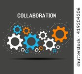 collaboration concept.... | Shutterstock .eps vector #419204206