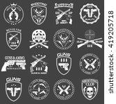 classic guns emblem with... | Shutterstock . vector #419205718