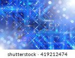 abstract blue fractal... | Shutterstock . vector #419212474