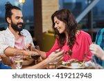 leisure  eating  food  people... | Shutterstock . vector #419212948