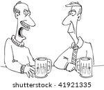 cartoon of two men in a bar | Shutterstock . vector #41921335