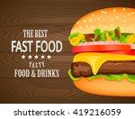 fast food poster design.vector... | Shutterstock .eps vector #419216059