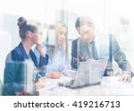 business  technology and office ... | Shutterstock . vector #419216713