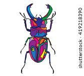hand drawn bug insect vector...   Shutterstock . vector #419218390