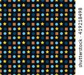 geometric pattern  square ... | Shutterstock .eps vector #419218498