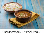 dal makhani or daal makhni is a ... | Shutterstock . vector #419218903