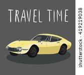 retro sport car isolated ... | Shutterstock .eps vector #419219038